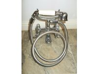 Traditional bath shower mixer chrome tap with handset