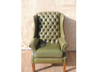 Chesterfield Unique Queen Anne leather chair (Delivery)