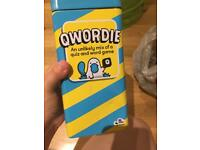 """Qwordie"" game - perfect, but dent to the tin"