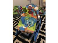 Fisher Price infant to toddler rocker with toys and soothing vibrations