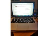 Macbook Pro Retina Display 13.3 model 8GB memory, 128GB Flash Storage, FOR SALE! MINT CONDITION!