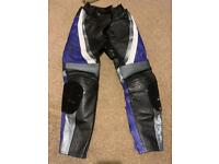 Ladies RST Leather Motorbike Trousers