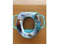 Disney Frozen soft toddler training toilet seat - blue