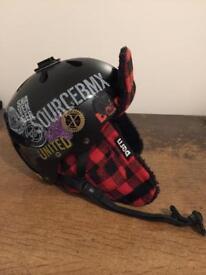 Bern Snowboard Helmet with Fleece Sherpa Liner large