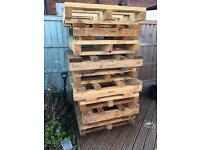 LARGE CHUNKY WOODEN PALLETS LOG BURNER FIREWOOD DIY PROJECTS