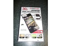 """APP SCOPE"" QUICK ATTACH PHONE / TABLET MICROSCOPE BOXED NEW see details"