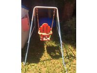 Toddler outdoor swing