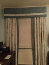 Beautiful Laura Ashley curtains with pelmets