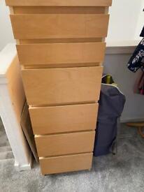 Malm tall boy plus a 3 drawer chest