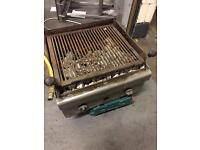 2 BURNER GAS CHARCOAL CHARGRILL WITH YELLOW GAS PIPE