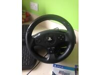Ps4 Steering wheel foot pedals and games
