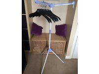Home/camping clothes rail rack hanging system drying.storage wardrobe. Folds compact. Tripod stand