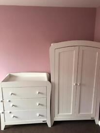 Mamas and Papas wardrobe and drawers