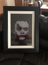 Joker picture with frame