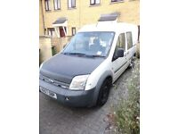 Ford Transit Connect 4 seater van. Drives. Up to date MOT. 2 keys. Log book. Serviced regularly.