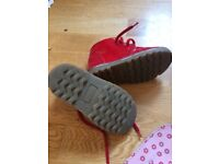 Red Hush Puppies Boots - size 7