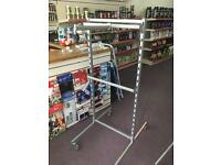 Clothing/shelving retail stand
