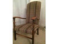 Antique fireside chair