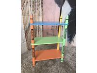 Brand New and Ready Assembled Bebe Style's Children's Sized Shelves - Crayon Themed!