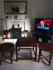 Coffee table and two side tables for sale