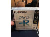 5 Fuji Film dvd-r, 120 minute, 4.7GB up to 16x