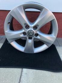 Vauxhall Astra J alloy wheel.