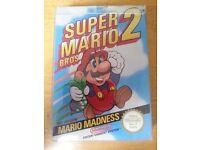 NES Nintendo Super Mario Bros 2 with manual & protector