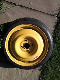 Space saver tyre as new in very good condition Bridgestone T115/70D14 88M Bargain at £5.