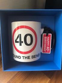40 mug comes in box NEW and UNUSED!!! Birthday present