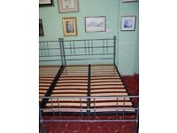 Metal double bed frame at Cambridge Re-Use (cambridge reuse)