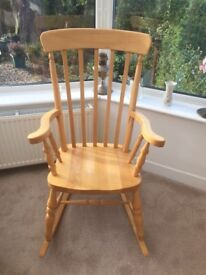 Pine rocking chair. Excellent chair.