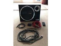 """Vibe 12"""" subwoofer and vibe wiring kit"""