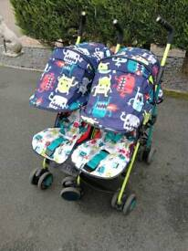 Cosatto twin pushchair monster