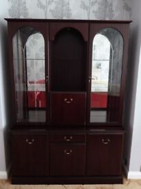 Display Cabinet with internal lighting.