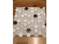 Topps Exclusive white mosaic tiles.. £75 for 1.5sq m