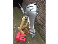 Honda 8 HP outboard long shaft tiller