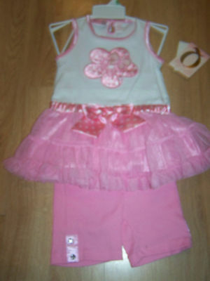 Infant Size 18 Months Baby Q White Pink 2 Piece Outfit Ruffled Tank Top Shorts N White Ruffled Top Outfit