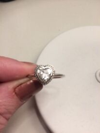 Almost new Pandora heart ring. No box.