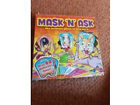 "mask ""n"" ask board game age 7 plus see discription"