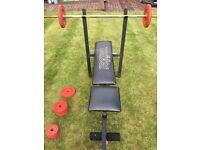 Weider Weight Bench & Weights