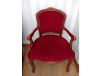 Italian Boudoir / Bedroom / Hall CHAIR - Custom made arm chair