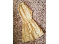 Brand new gold bernarsi sharara trousers salwaar