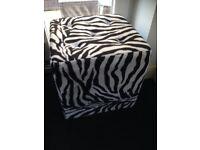Zebra print foot stools