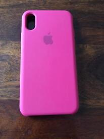 Apple IPhone X Silicone Case(Rose Red)