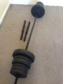 Bar bell and dumbell set (30kg)