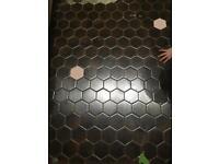 Vintage 1960 hexagonal tiles 2.5m2