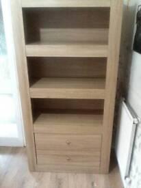 Oak effect 3 shelf bookcase