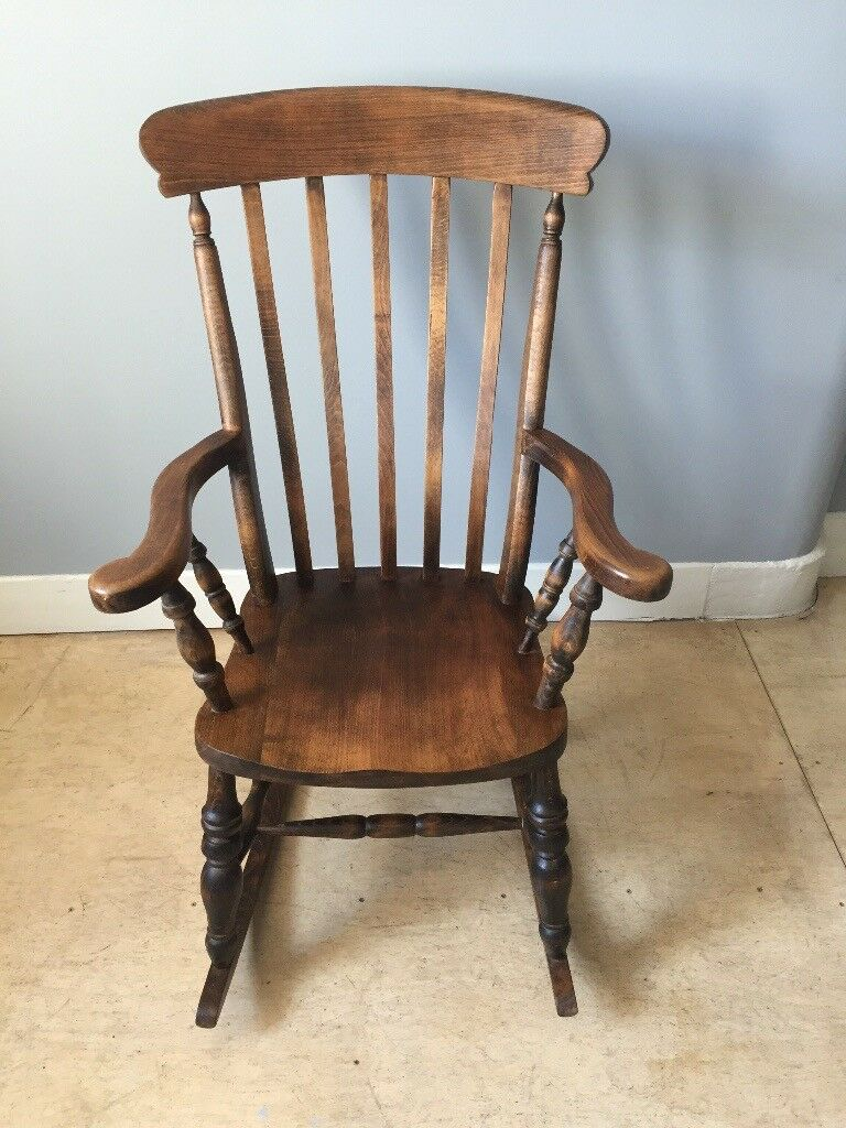Wooden Rocking Chair In Crosshill Glasgow Gumtree