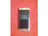 Immaculate Gold S7 edge unlocked 32gb