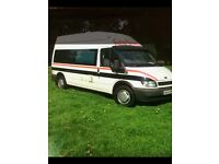 2002 FORD TRANSIT CAMPERVAN, LWB HIGH TOP, 2 BIRTH, WITH SHOWER AND TOILET ROOM, HOT AND COLD WATER,